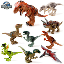 Wholesale Dinosaurs Wood - Building Blocks Super Heroes Avengers Jurrassic World Park Minifigures Jurrassic Park Dinosaur Bricks Mini Figures Toys
