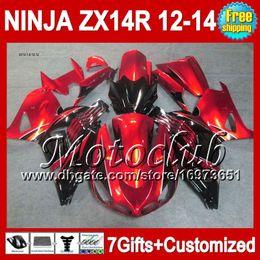 7gifts Para KAWASAKI 12-13 NINJA Rojo negro no naranja ZX-14R 2012 2013 2012 2013 ZX 14 R 25C215 ZX 14R ZX14R Rojo 12 13 12 13 ZX14 R Carenado desde fabricantes