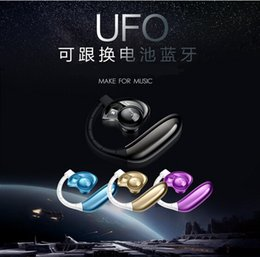 Wholesale Iphone Pink Replacement - Aminy UFO Voyager Bluetooth headset Replacement Battery Bluetooth 4.0 Wireless Bluetooth UFO Earphones for iphone samsung Noise-Canceling