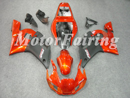 Wholesale Black 99 R6 Fairing Kit - Fairings for YZF600 R6 1998 2002 YZF R6 98 r6-02 99 00 01 02 YZF r6 Body Kits Orange Black