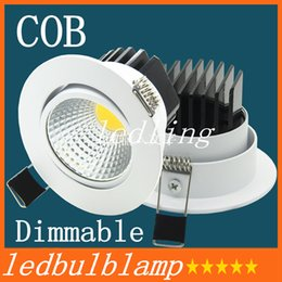 Wholesale Dimmable Cob Led Ceiling Light - The new Super Bright Recessed LED Dimmable Downlight COB 9W LED Spot light LED decoration Ceiling Lamp AC 220-240V