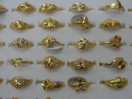 Wholesale Gold Filled Rings Prices - Cheap Price Woman girl Rings mix Heart Clover Flower free Size Silver Gold Ring Fashion Jewelry Valentine's Day gift 20pcs lot