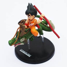 Wholesale Dragon Ball Shenron - Dragon Ball Z Super Saiyan Son Gokou With Dragon Riding Goku Shenron PVC Action Figures Collection Model Toy 14cm Free Shipping