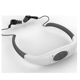 Wholesale Mp3 Sport Headset Memory - New Memory Waterproof MP3 Music Player 8GB Underwater Swim Surfing Diving Neckband Sports Stereo Earphone Headset Headphone Handsfree FM Rad