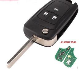 Qsuperekey 3 Button 433 Mhz 46 chip de transpondedor eléctrico flip unkeyless clave remota para Chevrolet KEY envío gratis desde fabricantes