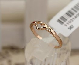 Wholesale Best Stamping - 2pcs heart RING best seller2pcs lots Wedding Band Rings for OL girl,stamped 18KGP gold plating ring jewelry,