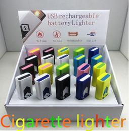 Canada New Fashion USB Briquet Rechargeable torche USB briquets briquets électroniques électriques pour cigarettes coupe-vent sans flamme briquet pour supplier lighter electronic Offre