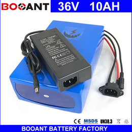 Wholesale 36v Battery For Bicycle - BOOANT 36V 10AH For Bafang 450W Motor Electric Bicycle Battery pack 36V EU US Free Customs with 2A charger 15A BMS Free Shipping