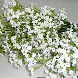 Wholesale Gypsophila Flowers - New elegant Gypsophila Baby`s Breath Artificial Gypsophila Flowers Plant Home Wedding Decoration bride holding Gypsophila flowers bouquet