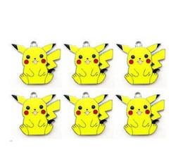 Wholesale Pikachu Jewelry - wholesale Free shipping 20 pcs Lovely Pikachu Charms Earrings Pendants DIY Jewelry Making