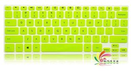 Wholesale Translucent Silicone Keyboard - Wholesale-Low Price translucent Ultra Thin Soft Silicone Keyboard Protector Cover Skin for New Dell Inspiron 14 7000 Series free shipping