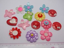 Wholesale Assorted Flower Cabochon - 15 Assorted Resin Flower Hat Bear Cabochon For Scrapbook Hair Bows DIY Craft