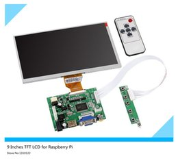 Wholesale Lcd Monitor Inch Hdmi - Wholesale-9 Inches Raspberry Pi LCD Display Screen TFT Monitor AT090TN10 with HDMI VGA Input Driver Board Controller