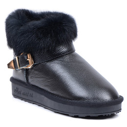 Wholesale Womens Waterproof Boots - High Quality MNS Short Boots luxury womens boot slip resistant waterproof boots rabbit fur Leather Winter boots glitter2009