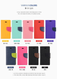 Wholesale Mercury Leather Iphone Case - Mercury Wallet leather PU TPU Hybrid Soft Case Folio Flip Cover for iPhone 4 4s 5 5s SE 5c 6 6s 7 Plus with Package