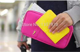 Wholesale Discount Shipping Cases - Wholesale-Free shipping Travel Journey Fabric Passport ID Card Holder Case Cover multifunctional Wallet Purse Portable Organizer Discount