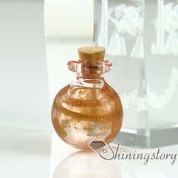 Wholesale Glass Vial Pendant For Necklace - miniature glass bottles pendant for necklace wholesale memorial ash jewelry keepsake urns jewelry small glass vials wholesale