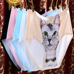 Wholesale Classic Underwear For Women - Newest 11 styles Ladies Underwear Cute 3D Cat Panties Sexy Mid Waist Underwear Comfort Briefs Animal Panties For Women Nylon Panties A-0240