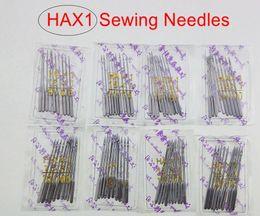 100 pezzi (11 # 12 # 14 # 16 # 18 #) 10 per sacchetto / Aghi per macchine da cucire per uso domestico HA * 1 per cantante Fratello Janome Toyota Juki si adattano anche alle vecchie macchine da cucire da