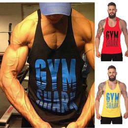 Wholesale Orange Vest For Men - 2015 New Men's Gym Tank Tops For Men 100%Cotton Bodybuilding Clothings Printed Sleeveless Fitness Shirt Sports Vests Muscle Tops
