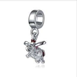 Wholesale Pandora Mother - Wholesale 30pc Flying Elephant Dumbo Silver Charm Beads Sweet Mother Sister Pendant Fit European Pandora Charms Sterling Bracelet & Necklace