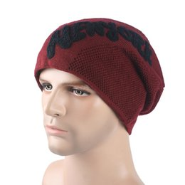 Wholesale Twill Letters Wholesale - Autumn And Winter Beanies Outdoor Keep Warm Skull Caps English Letter Plus Velvet Hats For Men And Women 10 5br B