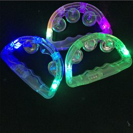 Wholesale Tambourine Rattle - Led Flashing Tambourine Light Sway Bell Child Party Favors Bar Decoration Supplies Baby Rattle Up Toys