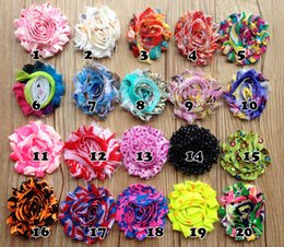 Wholesale Diy Shabby Flower - 2.3 Inch Shabby Flower Accessories for Baby Headbands DIY Infants Head Flowers DIY Baby girl Barefoot sandals Flowers Accessories 100pcs lot