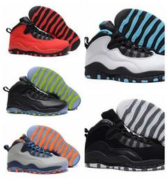 Wholesale 13 Wide - 2018 New Cheap Air Retro 10 Paris NYC CHI Rio LA Hornets City Pack Vivid Pink 10s Men Basketball Shoes Sneakers Retro X Sports Shoes 8-13