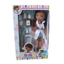 Wholesale Doll Boxes For Shipping - Wholesale-Free Shipping 2015 New Arrival doctora juguetes doc mcstuffins doll toys for girls with color box package