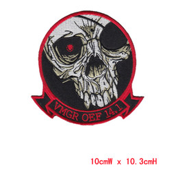 Wholesale Decorative Iron Patches - DIY Flowered Skull Embroidered Patches Fabric Badges Iron-On Sew-On Sewing For Bags Clothes Hat DIY Decorative Ornament