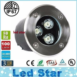 Wholesale 3w Waterproof Rgb Led - RGB 9W Led underground Light 12V 3*3W Led Outdoor Ingroud Lamp 600LM Waterproof IP67 Warranty 3 Years