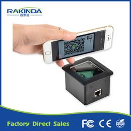 Wholesale pdf scanners - Wholesale- LV4500R RS232 pdf 417 qr code phone code barcode scanner reader use for kiosk turnstile