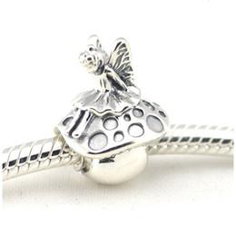 Wholesale Fairy Charm Bracelet - 2017 Summer New Fairy & Mushroom Charms Original 925 Sterling Silver Fairytale Fine Jewelry Fits Pandora Bracelets DIY Jewelry Making HB510
