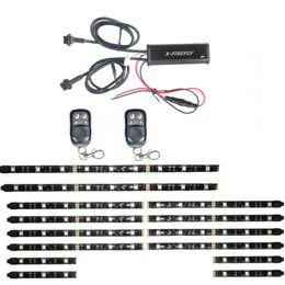 Wholesale Honda Strip - 14Pcs All Color Flexible Led Strips 2 Remote Control ATV Motorcycle Accent lights 15 Color Kit 34&68&92