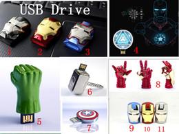 Wholesale Drive 32 - Iron Man3 hand Energy ring series full range 32 gb USB Flash drive 2.0 Memory drive Stick Pen ThumbCar USB disk
