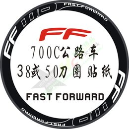 Wholesale Carbon Fiber Rims Bicycle - Wholesale-Fast Forward Cycle Decal Stickers Road Bike Bicycle Stickers 27 Inch Road Bike Wheel Rims Carbon Fiber Wheel Stickers