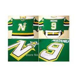 Wholesale Vintage Heritage - 2016 CCM Minnesota North Stars #9 Mike Modano 1987 Vintage Home Jersey Green Hockey Ice Jerseys Heritage Winter V Neck Sportswear