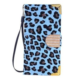 Wholesale Iphone Bling Leopard - S5Q Fashion Shockproof Luxury Leather Bling Leopard Case Cover For Iphone 6 Plus AAAFLH