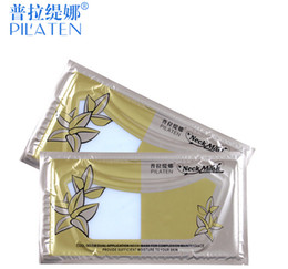 Wholesale beautiful sheets - 300pcs Retail Pilaten Genuine Neck Mask High Quality Neck membrane Crystal Collagen The neck Whitening Beautiful woman Cosmetic DHL FREE