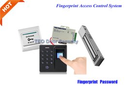 Wholesale Door Access Power - Free DHL shipping to USA Security Door Magnetic Lock 600Bls Power Supply Manufacturer Building Access Manangement Fingerprint Access Control