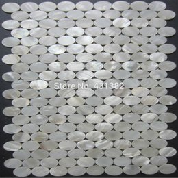 Wholesale Oval Bathroom - New lustre shells!!mother of pearl tiles oval; pure white kitchen backsplash tiles,decorative shell mosiac tile,bathroom wall tiles