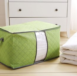 Wholesale Colorful Quilt Bedding - Colorful bamboo Quilt with cotton wadding storage bag environmental protection and dust proof dampproof finishing bag
