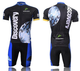 Wholesale Discovery Cycling Jersey Bib Shorts - 2015 New discovery Short Sleeve Cycling jersey bicycle bike wear shirt and bibs shorts or shorts Size :S ~5XL