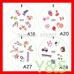 Wholesale Design Plates For Nail Art - Wholesale-Wholesale Silicone French Nail Art Tips Stamping Plate Image With 40 Design For Choice Acrylic Nail Silicon Nail Template