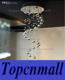 Wholesale Contemporary Crystal Ceiling Light Fixtures - New K9 Crystal Spiral Chandelier Ceiling Light Fixture Hanging Pendant Lamp Contemporary Crystal Chandelier With one GU10 Bulb Lights