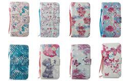 Cajas del teléfono celular de la mariposa online-8 Diseños Unicorn Flamingo Butterfly Oso Monedero Funda de cuero para teléfono celular Soporte para iphone X 8G 7G 6 6S PLUS 5S Samsung S8 PLUS S7 edge