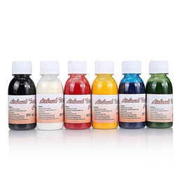 Wholesale Body Tattoo Ink - 5 bottles frees shipping temporary airbrush pigment tattoo makeup ink for body painting body art