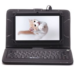 Wholesale Tablet Android China Keyboard - iRULU Q8 7 Inch Android4.4 8GB Tablet PC A33 Dual Camera Capacitive Quadcore Kids Tablet PCs Bundle 7 inch Keyboard Case