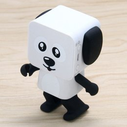 Wholesale Dancing Dog Toys - 2017 Electronic Dancing Dog Robot Stereo Speakers Bluetooth Speakers Portable Mini Electronic Walking Toys With Music Wireless Speaker Toy